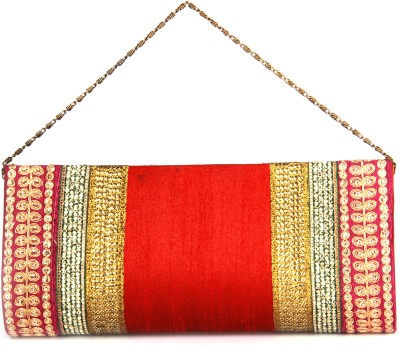 Adaa Women, Girls Casual, Party Red, Pink  Clutch