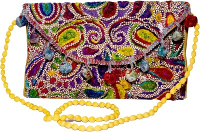 Sampoornam India Wedding, Party, Formal, Festive Multicolor  Clutch