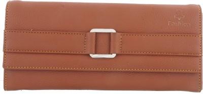 Fashion Leather Casual Tan  Clutch