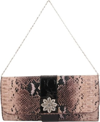 Vakaro Women Party Brown  Clutch