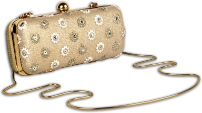 Arancia Girls, Women Wedding, Festive, Formal Gold  Clutch