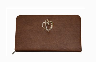Vedic Deals Casual Brown  Clutch