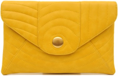 SG Collection Women Casual Yellow  Clutch