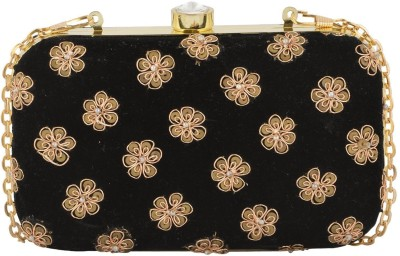 Arisha kreation Co Wedding Black  Clutch