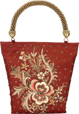 Rumani Creations Women Festive Red  Clutch