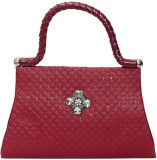 Swan Collection Women Party Maroon  Clut...