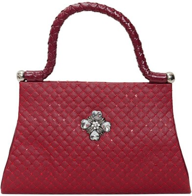 Swan Collection Women Party Maroon  Clutch