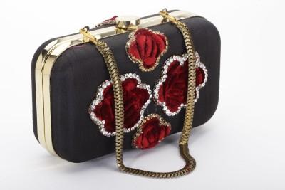 Silk&Sequins Women Formal Black, Red  Clutch