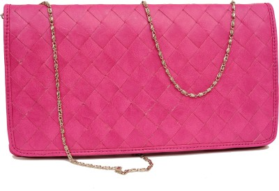 SG Collection Women Party Pink  Clutch