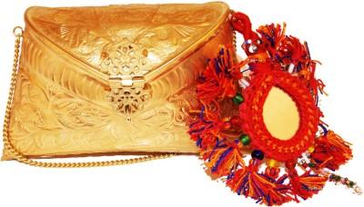 Ruhmet Women Casual, Party, Wedding Gold  Clutch
