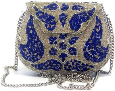 Uptown Laila Wedding Blue  Clutch