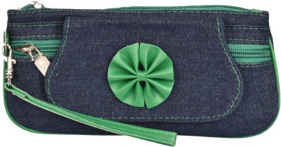 Fristo Women Casual Green  Clutch