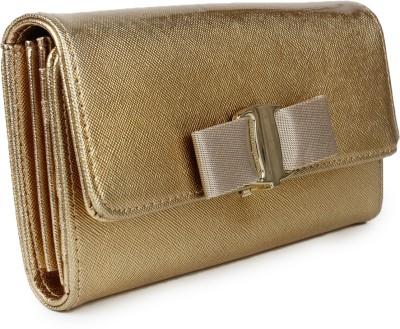 Amatra Women, Girls Gold Artificial Leather Wallet