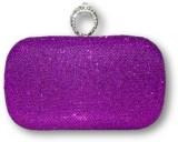 Posh N Plush Women Purple  Clutch