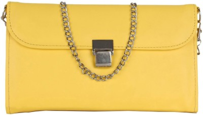 Cocktail Casual Yellow  Clutch