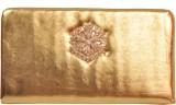 Naaz Bag Collection Women Gold  Clutch
