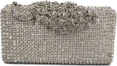 Chicastic Women Wedding Silver  Clutch