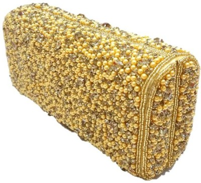 Bling It On Wedding, Party, Festive Gold  Clutch