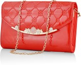 Eyeslanguage Women Party Red  Clutch