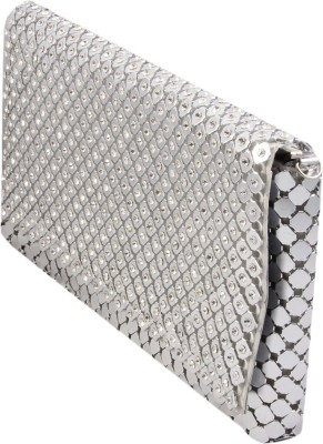 Alishaan Wedding, Casual, Party, Festive Silver  Clutch