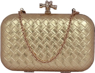 Mex Women, Girls Party, Wedding, Casual Gold  Clutch