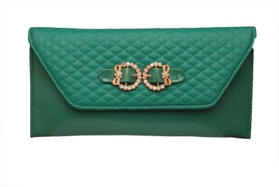 Prime Casual Green  Clutch