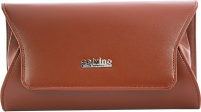 Calvino Women, Girls Casual, Formal Brown  Clutch