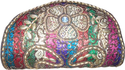 Linzina Wedding, Party, Festive Multicolor  Clutch