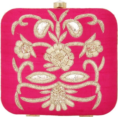 Arti J. Girls, Women Wedding, Festive, Party Pink  Clutch