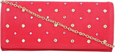 Zaera Women Party Red  Clutch