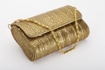 Silk&Sequins Women Party Gold  Clutch