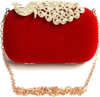 Inspired Living Women Party Red  Clutch