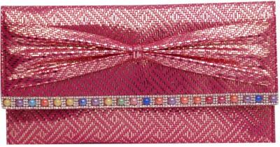 Womaniya Girls Party Pink  Clutch