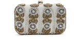 Bonito Ange Women Party Silver  Clutch