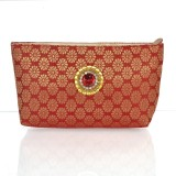 Cartera Women Maroon  Clutch