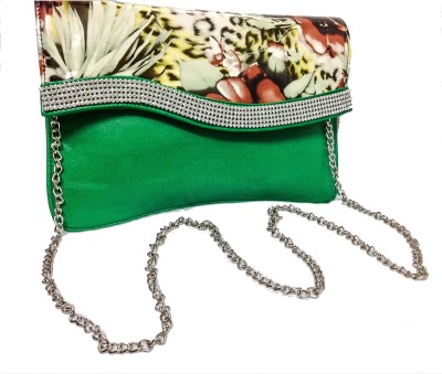 Bagzmania Women Party Green  Clutch
