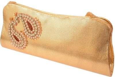 Foppish Mart Gold  Clutch