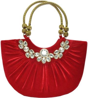 Women Trendz Women Wedding Red  Clutch