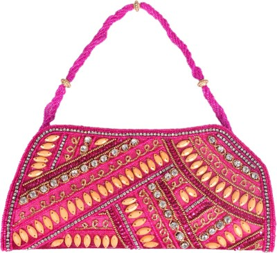 Himalaya Handicraft Party Pink  Clutch
