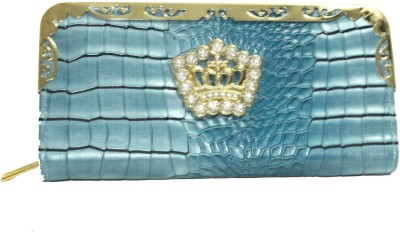 Alarafaat Casual Blue  Clutch