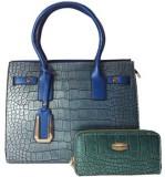 Delihike Women Blue  Clutch