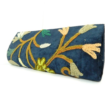 Aabeer Women Party Blue  Clutch