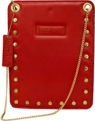 Kethini Women Casual Red  Clutch