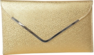 Awesome Fashions Gold  Clutch