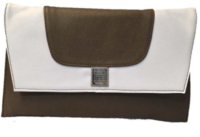 Balaji Creations Women Party Grey, Brown  Clutch