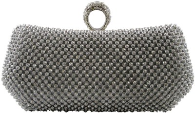 Indostyle Women Party Silver  Clutch
