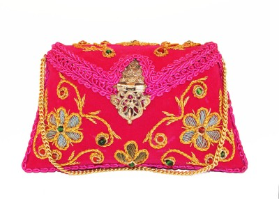 Ruhmet Women Casual, Party, Wedding Pink, Red  Clutch