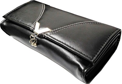 Samco Fas Girls, Women Black Artificial Leather Wallet
