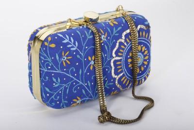 Silk&Sequins Women Party Blue  Clutch