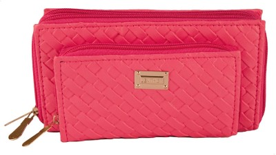 Magiq Girls Casual, Formal Pink Artificial Leather Wallet